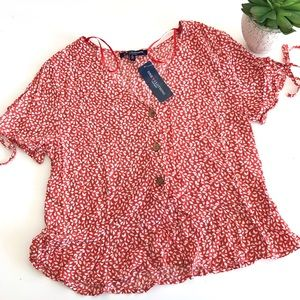 NWT One Clothing Red Blouse